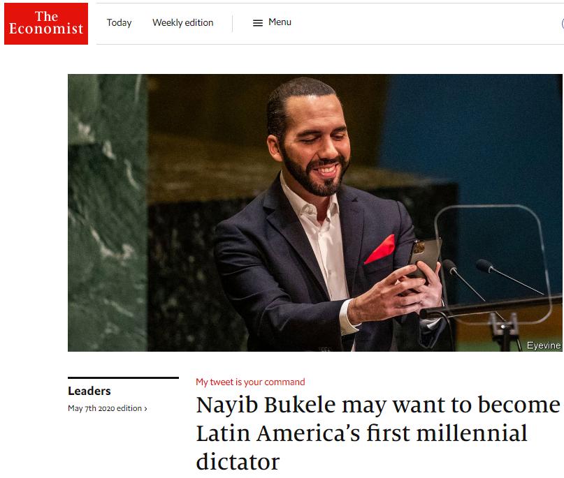 The Economist: Bukele, El Primer Dictador Milenial